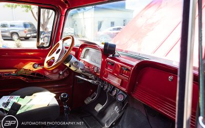 Chevrolet C10 Pickup Truck Red Interior