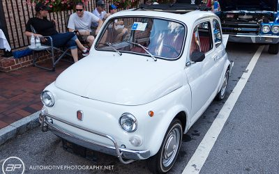 Fiat 500 Original White Cloth Roof