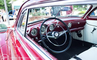 Red Classic Car - Interior